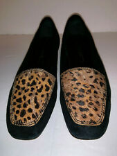 "Womens ENZO ANGIOLINI ""LIBERTY""  Size 6 M Black Suede with Tiger Spotted Look"