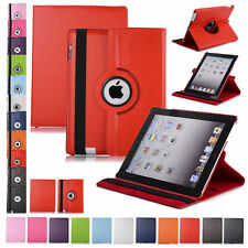 360 Rotating Leather Folio Case Cover Stand For Ipad 234 Mini Air 97 102 105
