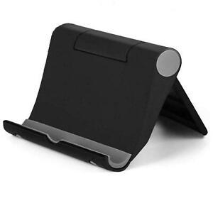 iPad Tablet iPhone Desk Stand Holder Mobile Phone Folding Portable Black