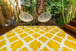 200x270cm MOROCCO Outdoor Plastic Rug Yellow