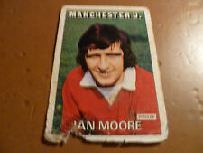A&bc chewing-gum Football Card 1972/73 rouge orange dos Ian Moore Manchester Utd