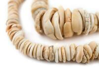 Antique Mauritanian Conus Shell Beads 9-29mm Mali African Brown Unusual Handmade