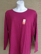 NWT NEW WOMENS JUST MY SIZE ESSENTIALS  L/S CREW NECK STRIPED TEE TOP/  SHIRT 5X