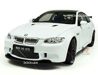 "White 1:24 BMW M3 GTS Alloy Metal Diecast Model Sports Car KDW 1/24 19.5cm 8"""