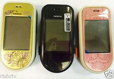NOKIA 7370 (Sbloccato) Cellulare in oro-marrone e rosa Colori-UK Venditore