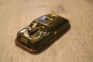 "VINTAGE METAL 4 INCH TIN MILITARY TANK ARMY ARGO CAR TOY 4"""