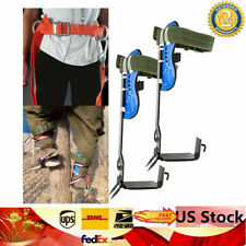 100% New Adjustable Lanyard Tree / Pole Climbing Spike Safety Belt Straps Rescue