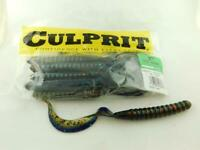 "C720-27 Culprit 7.5/"" Original Worms 13 Pack Black//Red Tail Fishing Lure"