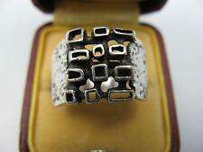 Teka Sehr schöner Vintage Modernist Designer Ring aus 925 Sterling Silber
