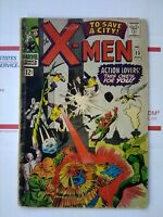 X-men 1966 #23 TO SAVE A CITY   NICE Marvel Comic xmen x men 23 AUGUST 1966