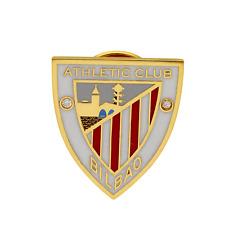 Pin Fútbol Athletic Club Bilbao Oro de Ley 18k Diamante Rojo Blanco Emblema