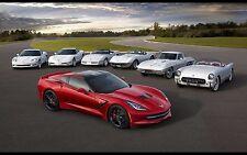 """2014 Chevrolet Corvette Stingray muscle car Mini Poster 13""""x19"""" HD"""