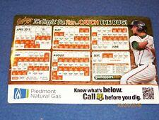 1 Greensboro Grasshoppers 2015 magnetic schedule minor league baseball Pirates
