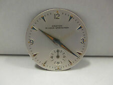 Rare Vintage Croton Nivada Grenchen 25.65mm Swiss Watch Dial & 3 Original Hands