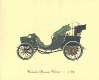 Antique Car 1899 Columbia Daumon Victoria Color Lithograph Vintage Auto Print