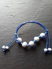 Brand new blue bracelet bangle with quartz stone! Fine Jewellery gifts!