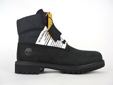 Mens Timberland 6 Inch Premium Lable A2DXX Black Leather Lace Up Casual Boots