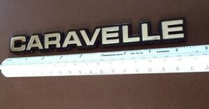Original 1985--1988 Plymouth Caravelle Trunk Lid Emblem-Badge