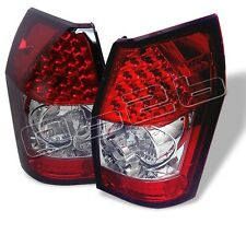 Dodge Magnum 2005 2006 2007 2008 LED Tail Lights Red Clear Euro Style