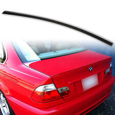 Fyralip Matte Black Rear Trunk lip spoiler For BMW E46 Coupe & M3 Unpainted Wing