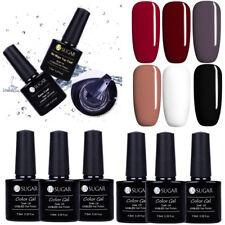 8Bottles UV Gel Nail Polish Black White Nude Base Top Coat Manicure DIY UR SUGAR