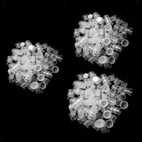 300PCS Clear Plastic Pigment Cup Caps Tattoo Ink Holder Corpo forniture per