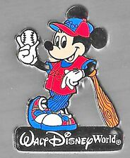 New listing Walt Disney World 2000 Official Logo Mickey Mouse Pin Baseball Limited Edition