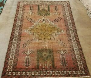 """6'6""""X 4' HAND-KNOTTED ANTIQUE CR.1900 KURDISH MALYR TRIBAL FINE WOOL""""COLLECTIBLE"""