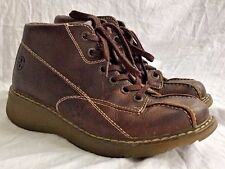Dr. Doc Martens Claudia High Top Brown Pebbled Leather Shoes/Boots Women's US 8