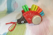 Kaper Kidz Wooden Children's Pull-a-long Hedgehog Toy! Pull along & Listen!
