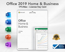 Microsoft Office Home and Business 2019 for WINDOWS & MAC - New Genuine LICENSE