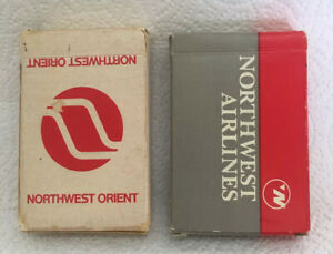 Pair Of Vintage Northwest Airlines Playing Cards Complete