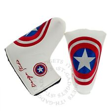 Mid Mallet Putter Head Cover fit Scotty Cameron Nike Bettinardi Captain America