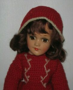 """1930's Mary Hoyer Composition Doll 14"""" tall #DE153 Hard to find!"""