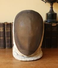 French Fencing Mask Guard. Antique Vintage Fencers Helmet Headpiece. Home Decor