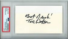 Tom Watson PGA Masters Champ Signed/Auto Cut on 3x5 Index Card PSA/DNA 153589