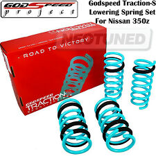 GODSPEED TRACTION-S LOWERING SPRINGS SET FOR 350Z 03-08 Z33 G35 COUPE 03-07 V35