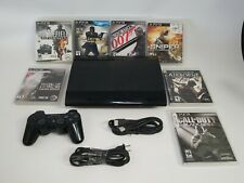Sony PlayStation 3 PS3 Super Slim 500GB Console System Bundle w 7 SHOOTER Games