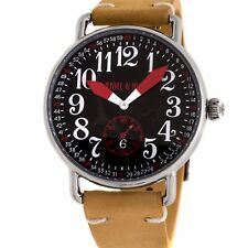 Jekyll and Hyde Cracked Steel Mens Strap Watch Quartz 42-14A-RE