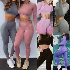Women Seamless Workout Yoga Sets Female Sports Gym Suit Wear Running Clothes Fit