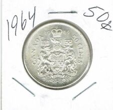 1964 Canadian Uncirculated Silver Fifty Cent coin!