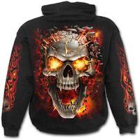 SPIRAL DIRECT SKULL BLAST - Hoodie Death/Flames/Horror/Metal/Biker/Rock/Hoody