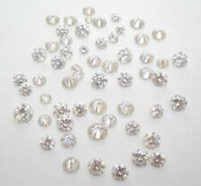 0.05ct HI1 5piece pair lot 0.01ct each round loose diamond for ring or studs