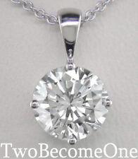 Not Enhanced Excellent VS2 Fine Diamond Necklaces & Pendants