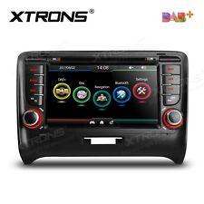 "AUTORADIO 7"" Audi TT Mk2 Navigatore Gps Dvd Comandi Volante Bluetooth DAB JJ"