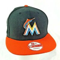 Miami Marlins MLB New Era Baseball Cap Black & Orange Adjustable Friction Buckle