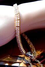 "BRACELET  sparkling 5.22 metric ct  White Diamonds & Sapphires 18ct gold  8"" -"