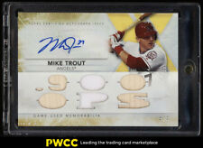 2015 Topps Triple Threads Gold Mike Trout AUTO BAT PATCH /9 #TTAR-MT1 (PWCC)