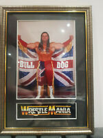 Davey Boy Smith British Bulldog Mounted & Framed Retro Memorabilia Wrestling