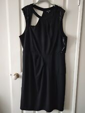 City Chic Black Formal Pencil Dress with Beaded Design Size XL